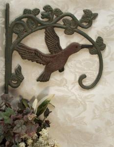 Cast Iron Hummingbird Plant Hanger - Set of 2