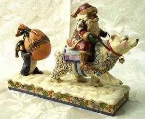 "Jim Shore ""Santa with Polar Bear"""
