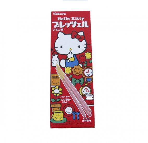 Kabaya Hello Kitty Strawberry Chocolate Covered Pretzel Sticks