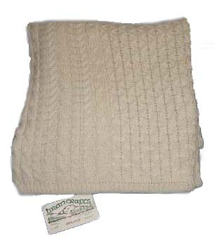 Knit Irish Wool Throw Blanket