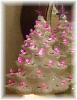 Ceramic Scottish Thistle Light Up Christmas Tree