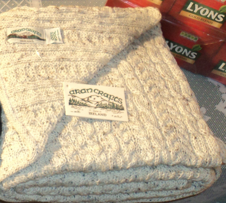 Irish Wool Throw Blanket in Natural Fleck