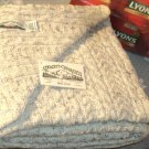 Irish Wool Throw Blanket in Natural Fleck