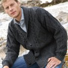 Men's Shawl Collar Irish Wool Cardigan Size Large ~ Made in Ireland