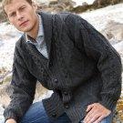 Men's Shawl Collar Irish Wool Cardigan Size XXLarge ~ Made in Ireland