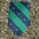 Shamrock Stripes Irish Tie