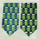 Irish Beer Mugs Mens Blue Tie