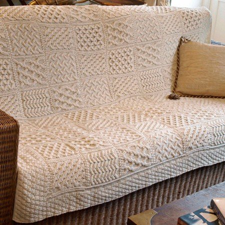 Irish Made Wool Patchwork Throw Blanket