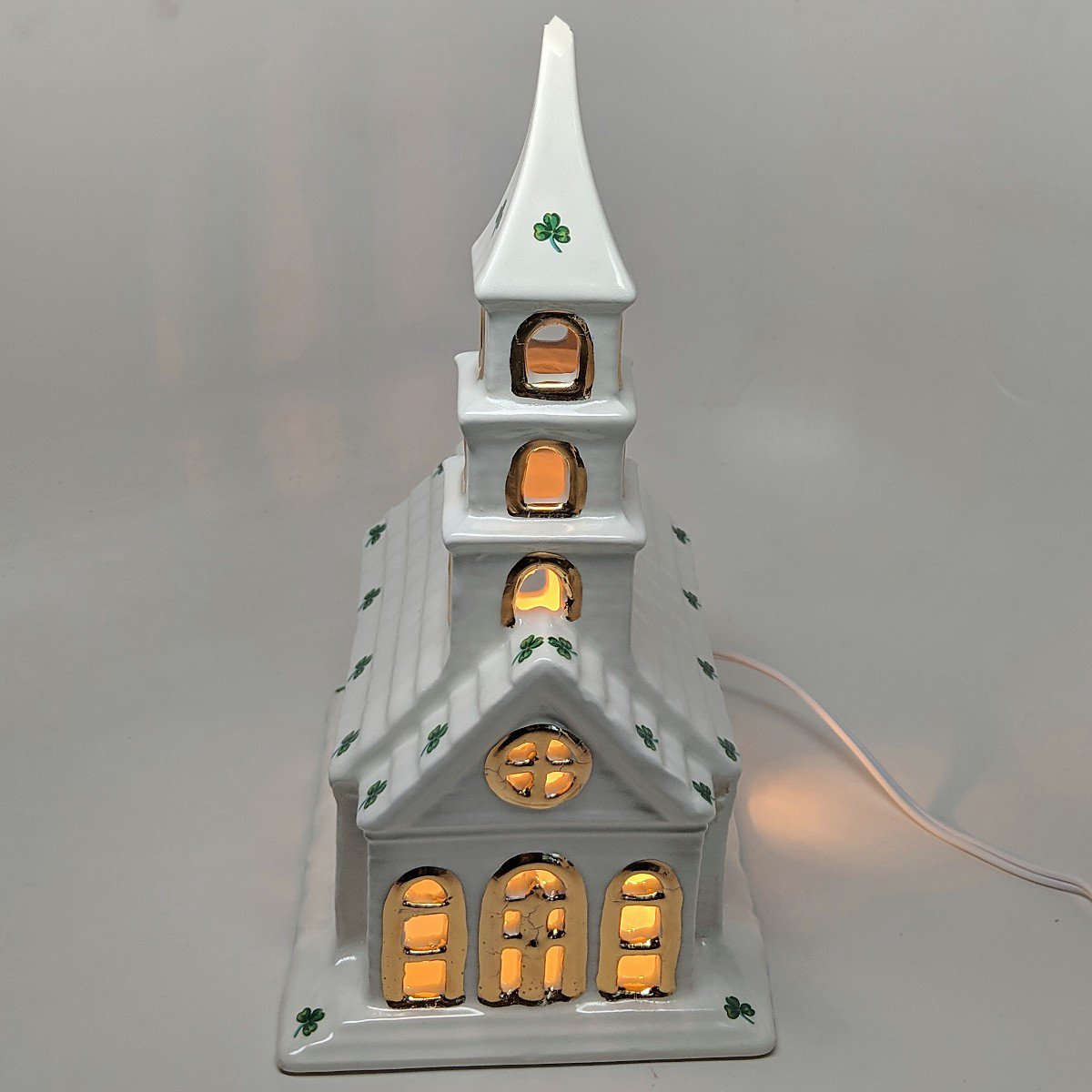 Light Up Irish Church With Shamrocks