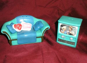 Lucille Ball I LOVE LUCY Forever Friends TV S&P SHAKER SET