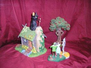 Wizard Of Oz WANNA PLAY W/ FIRE Lighted 3 piece DIORAMA