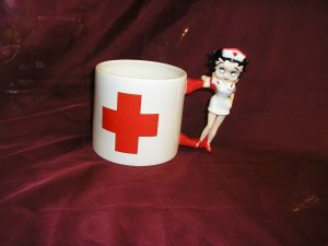 Nurse BETTY BOOP Ceramic SOUP CUP Get Well GIFT