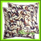 2 THAI SILK & COTTON CUSHION PILLOW COVER PURPLE / 1215