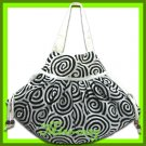 THAI SILK SHOULDER HAND BAG WHITE GYPSY HIPPIE HOBO / B105