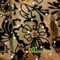 THAI SILK HAND SHOULDER BAG BROWN FLORAL GYPSY HOBO / B122