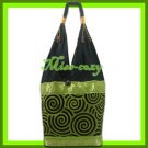 THAI SILK SHOULDER BAG HOBO GREEN ELEPHANT TOTE HANDBAG / B132