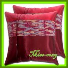 2 THAI SILK CUSHION THROW CASE PILLOW COVER BURGUNDY / 1202