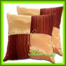 2 THAI SILK CUSHION CASE PILLOW COVER ORANGE TWO-TONE / 1120