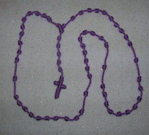 Lavender Knot Rosary - Handmade of Nylon Cord