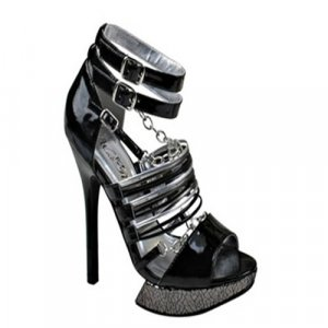 STRAPPY CROSS BAND HEEL WITH BUCKLE