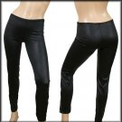 WET LOOK LEGGINGS WITH ZIPPER DETAIL