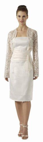 White Bridal Jacket Ivory Long Sleeve Lace Bolero Jacket Embroidery | DiscountDressShop.com 2786PO