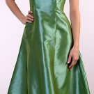 Strapless Green Tea Length Formal Cocktail Dress Prom Party With Bow | DiscountDressShop.com 086CD