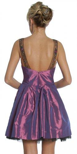 Cheap Plum Dress With Side Pockets Plum Knee Length Dress Cocktail   DiscountDressShop.com 1069JU