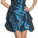 Royal Blue Bubble Dress With Mesh Back Royal Blue Cocktail Gown   DiscountDressShop.com 1070JU