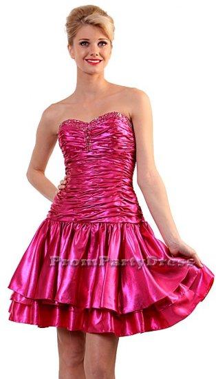 Short Above Knee Royal Blue or Hot Pink Party Prom Cocktail Dress | DiscountDressShop.com 1078CD