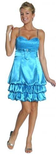 Turquoise Bubble Cocktail Dress Turquoise Prom Sweetheart Neckline | DiscountDressShop.com 2118JU