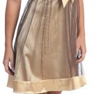 Cheap Brown Gold Cocktail Dress Spaghetti Strap Brown Party Dress | DiscountDressShop.com 2120NX