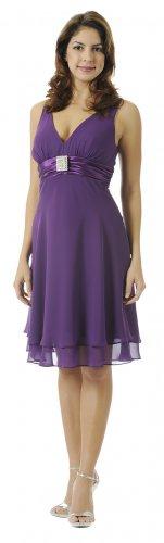 Purple Cocktail Dress Short Purple Graduation Dress Empire Waist | DiscountDressShop.com 2904PO