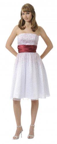 Short Strapless Glitter Knit White Magenta Cocktail Dress Graduation   DiscountDressShop.com 2908PO