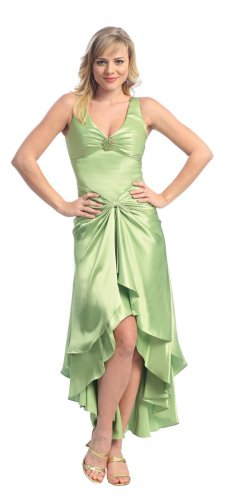Cheap Apple Green Cocktail Dress Apple Green Bridesmaid Party Dress | DiscountDressShop.com 927NX