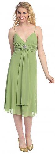 Discount Sage Green Dress Graduation Sage Bridesmaid Sage Prom Dress | DiscountDressShop.com 1835S-C