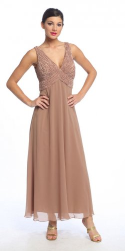 Almond Mother of the Bride/Groom Dress Formal Evening Dress Cheap | DiscountDressShop.com 022NX