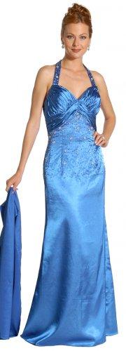 Royal Blue Formal Evening Dress Sweetheart Neckline Halter Top Beads | DiscountDressShop.com 1042JU