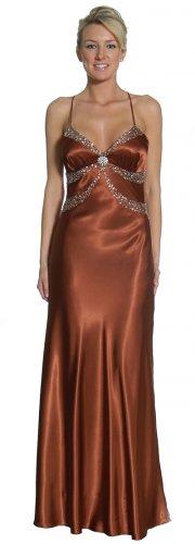 Brown Pageant Gown Spaghetti Strap Formal Dress Prom Brown Dress | DiscountDressShop.com 1061JU