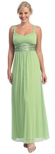 Sage Green Empire Waist Formal Dress Sage Green Bridesmaid Dress | DiscountDressShop.com 2007CE