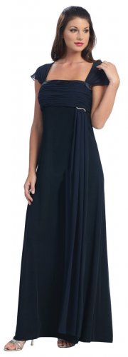 Cheap Navy Mother of the Bride/Groom Dress Gown Formal Evening Dress   DiscountDressShop.com 2015NX
