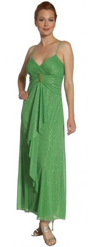 Metallic Green Formal Dress Green Bridesmaid Dress Green Cocktail | DiscountDressShop.com 2113JU