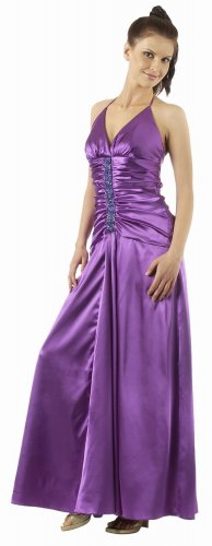 Long Purple Formal Evening Dress Charmeuse Bridesmaid Prom Dress | DiscountDressShop.com 2800PO