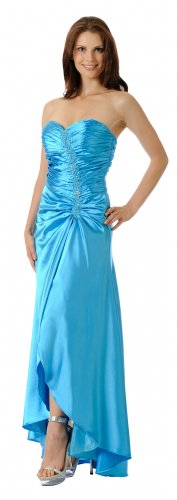 Turquoise Prom Dress Turquoise Formal Gown Strapless Sweetheart Neck | DiscountDressShop.com 5652PO
