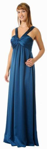 Dark Teal Dress Formal Evening Gown Teal Bridesmaid Dress V Neckline | DiscountDressShop.com 5672PO