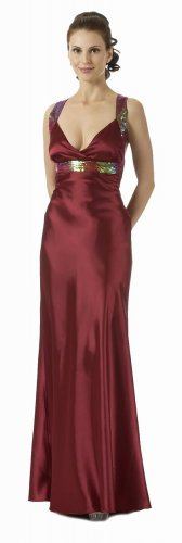 Burgundy Dress Sequin Dress Prom Dress Burgundy Cocktail Gown Dress | DiscountDressShop.com 5696PO