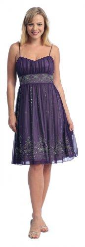 Cheap Plum Lilac Short Dress Empire Waist Cocktail Plum Prom Dresses | DiscountDressShop.com 2049CE