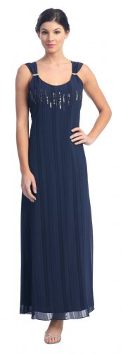 Cheap Navy Formal Evening Gown Mother of the Bride Groom Navy Dress | DiscountDressShop.com 211NX