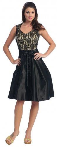 Black Bow Tie Ribbon Formal Dress Black Plus Dress Black Graduation   DiscountDressShop.com 2019NX