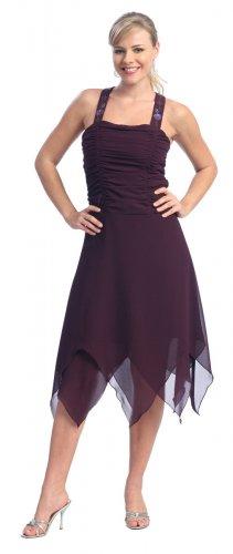 Cheap Eggplant Formal Dress Knee Length Eggplant Prom Dresses Party | DiscountDressShop.com 210NX